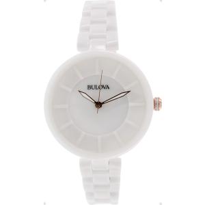 Bulova Women's Classic 98L196 White Ceramic Quartz Watch