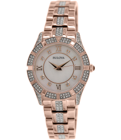 Bulova Women's Crystal 98L197 Rose Gold Stainless-Steel Quartz Watch