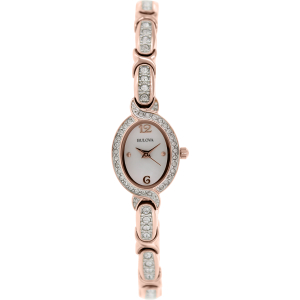 Bulova Women's Crystal 98L200 White Stainless-Steel Quartz Watch