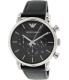 Emporio Armani Men's Classic AR1733 Black Leather Quartz Watch - Main Image Swatch