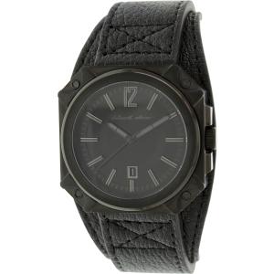 Black Dice Men's Graduate BD-070-02 Black Leather Analog Quartz Watch