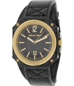 Black Dice Men's Graduate BD-070-03 Black Leather Analog Quartz Watch