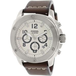 Fossil Men's Modern Machine FS4929 Brown Leather Analog Quartz Watch