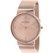 Skagen Women's Ancher SKW2130 Rose-Gold Stainless-Steel Quartz Watch