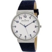 Skagen Men's Ancher SKW6098 Blue Leather Quartz Watch