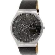 Skagen Men's Grenen SKW6116 Grey Leather Quartz Watch
