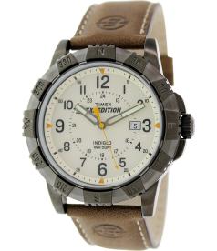Timex Men's Expedition T49990 Beige Leather Analog Quartz Watch