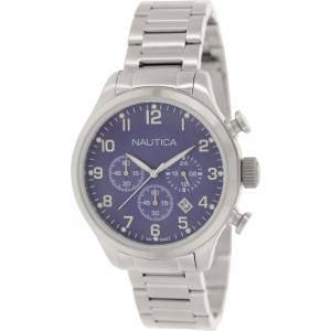 Nautica Men's Bfd 101 N17664G Silver Stainless-Steel Quartz Watch