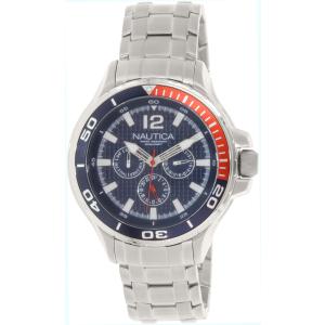 Nautica Men's Nst 02 N22616G Silver Stainless-Steel Quartz Watch