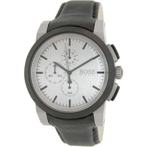 Hugo Boss Men's 1512978 Grey Leather Analog Quartz Watch