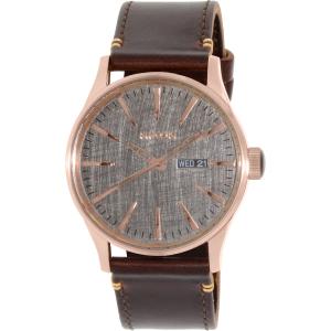 Nixon Men's Sentry A1052001 Brown Leather Quartz Watch