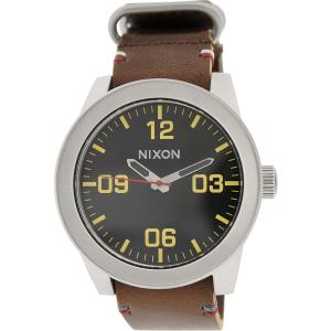 Nixon Men's Corporal A243019 Brown Leather Leather Quartz Watch