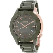 Nixon Men's Monarch A2881419 Green Plastic Quartz Watch