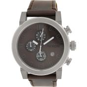 Nixon Men's Ride A315562 Brown Leather Quartz Watch
