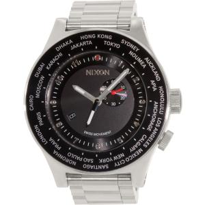 Nixon Men's Passport A379000 Silver Stainless-Steel Swiss Quartz Watch