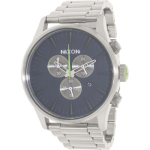 Nixon Men's Sentry A3861981 Silver Stainless-Steel Quartz Watch