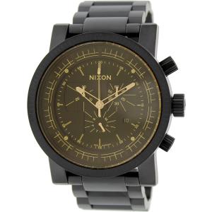 Nixon Men's Magnacon A4571354 Black Stainless-Steel Swiss Quartz Watch