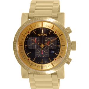 Nixon Men's Magnacon A457510 Gold Stainless-Steel Swiss Quartz Watch