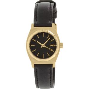 Nixon Women's A509010 Black Leather Quartz Watch