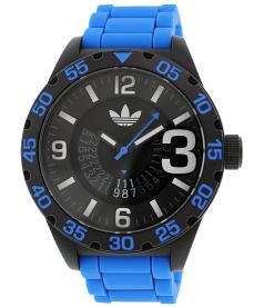 Adidas Men's Newburgh ADH2966 Blue Rubber Quartz Watch