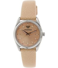 Emporio Armani Women's Sportivo AR6032 Orange Leather Analog Quartz Watch