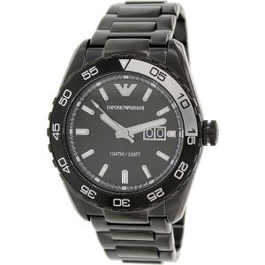 Emporio Armani Men's Sportivo AR6049 Black Stainless-Steel Analog Quartz Watch