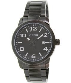 Citizen Men's BI1025-53E Black Stainless-Steel Quartz Watch