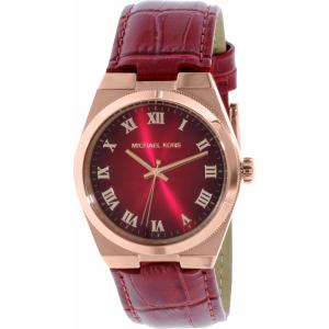 Michael Kors Women's Channing MK2357 Lipstick Red Leather Quartz Watch
