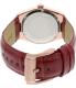 Michael Kors Women's Channing MK2357 Lipstick Red Leather Quartz Watch - Back Image Swatch