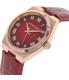 Michael Kors Women's Channing MK2357 Lipstick Red Leather Quartz Watch - Side Image Swatch