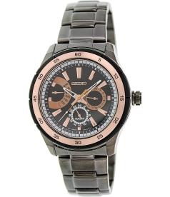 Seiko Men's SNT025 Brown Stainless-Steel Quartz Watch