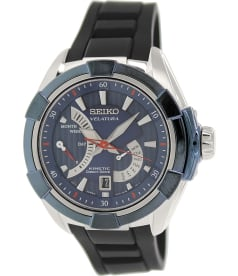 Seiko Men's Velatura SRH017P2 Black Silicone Seiko Kinetic Watch