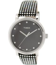 Timex Women's Originals T2P481 Black Leather Quartz Watch