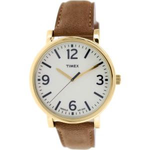 Timex Men's Originals T2P527 Brown Leather Analog Quartz Watch