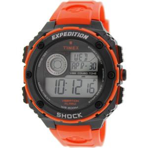 Timex Men's Expedition T49984 Orange Rubber Quartz Watch