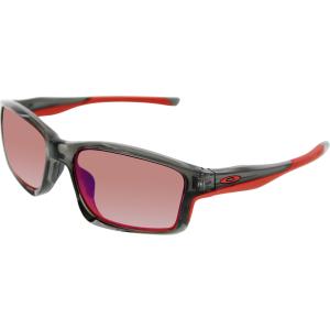 oakley men 39 s polarized chainlink oo9247 10 black rectangle sunglasses. Black Bedroom Furniture Sets. Home Design Ideas