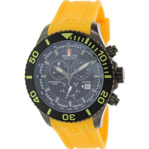 Swiss Military Hanowa Men's 06-4226-13-007-11 Yellow Rubber Swiss Quartz Watch