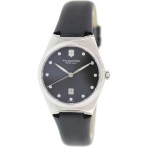 Victorinox Swiss Army Women's Victoria 241636 Black Leather Swiss Quartz Watch