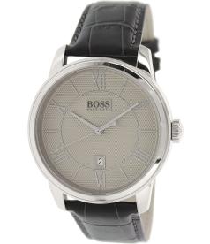 Hugo Boss Men's 1512975 Black Leather Quartz Watch