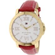 Tommy Hilfiger Women's 1781439 Red Leather Analog Quartz Watch