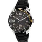 Tommy Hilfiger Men's 1790978 Black Rubber Analog Quartz Watch
