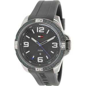 Tommy Hilfiger Men's 1791089 Grey Silicone Analog Quartz Watch