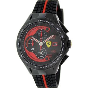 Ferrari Men's 0830077 Black Rubber Quartz Watch
