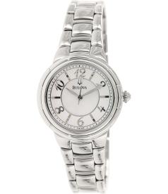 Bulova Women's Diamond 96L169 Mother-Of-Pearl Stainless-Steel Quartz Watch