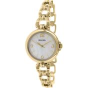 Bulova Women's 97L138 Gold Stainless-Steel Quartz Watch