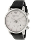 Emporio Armani Men's Classic AR1807 Black Leather Quartz Watch - Main Image Swatch
