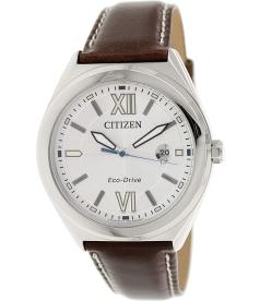 Citizen Men's AW1170-00H Brown Leather Quartz Watch