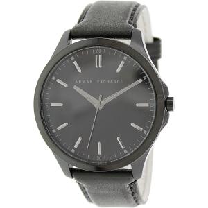 Armani Exchange Men's AX2148 Black Leather Quartz Watch