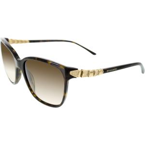 Bvlgari Women's Gradient  BV8136B-504/13-57 Tortoiseshell Square Sunglasses