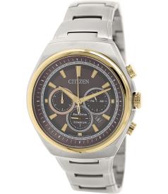 Citizen Men's Eco-Drive CA4025-51W Silver Titanium Quartz Watch